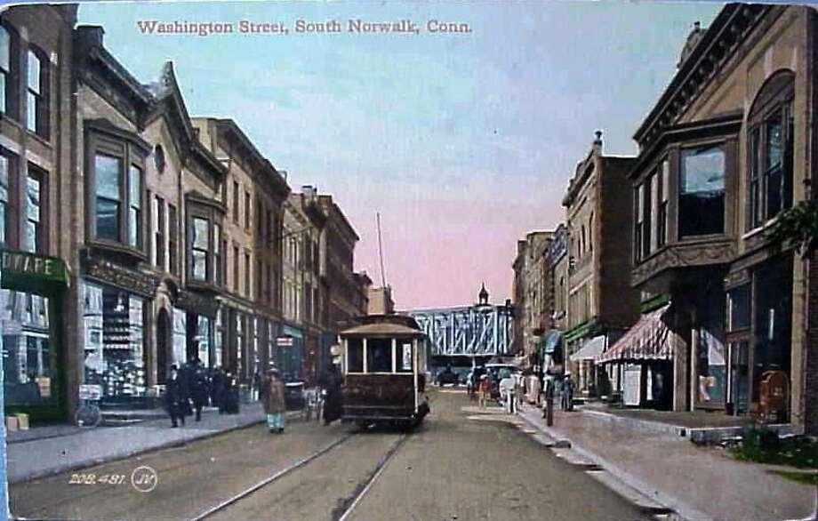 Washington Street South Norwalk CT Postcard 1905