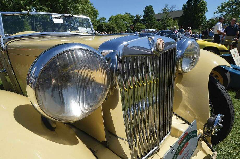 Hour Photo/Alex von Kleydorff. A beatiful original 1949 MG TC Roadster on the judging Field at the 2014 Greenwich Concours d'Elegance this past Saturday and Sunday