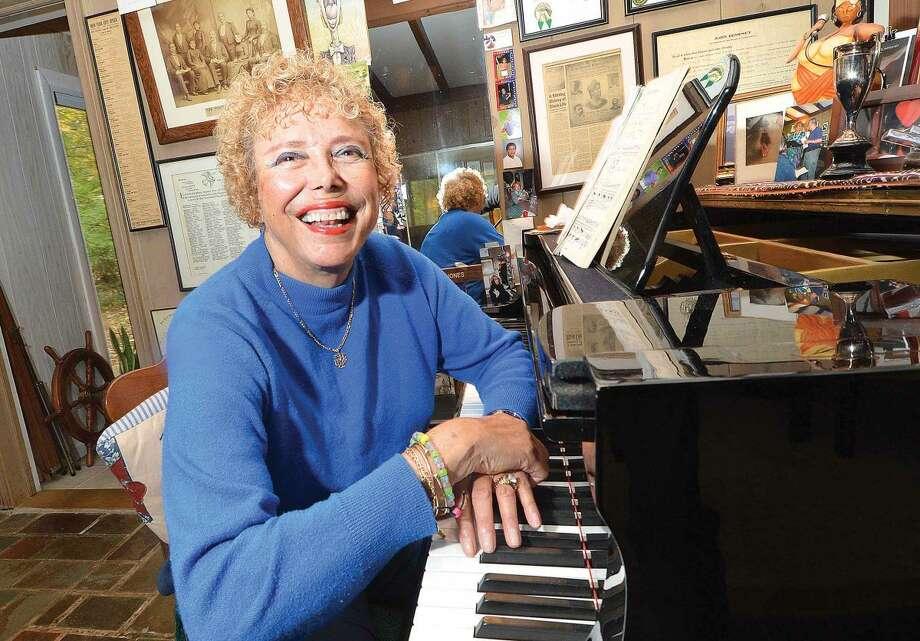 Hour Photo/Alex von Kleydorff Opera Singer Betty Jones talks about her book at her Wilton home