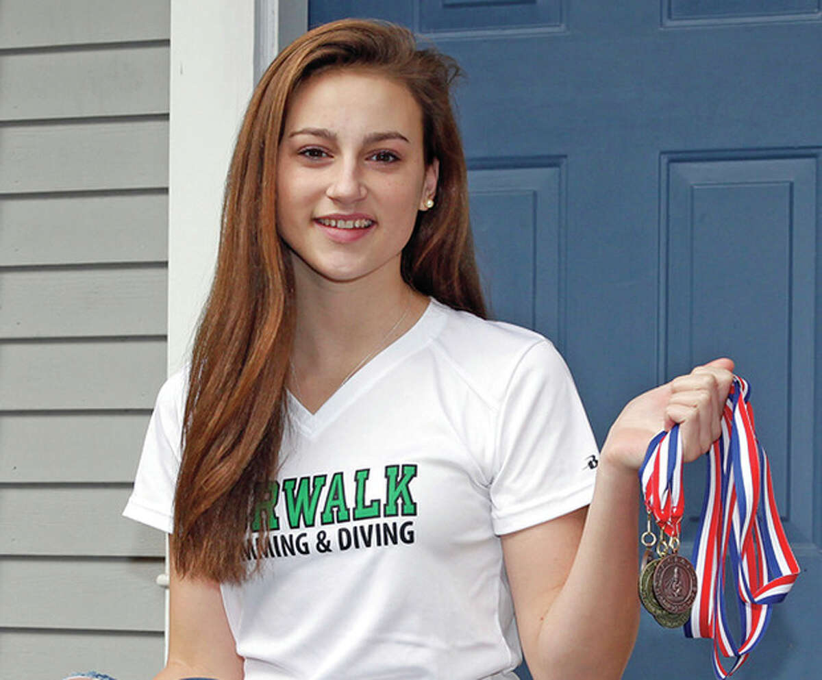 Norwalk-Brien McMahon senior co-op swimmer Olivia Haskell was of the 120 students from the FCIAC to participate at the leadership conference. (Hour file photo / Danielle Calloway)
