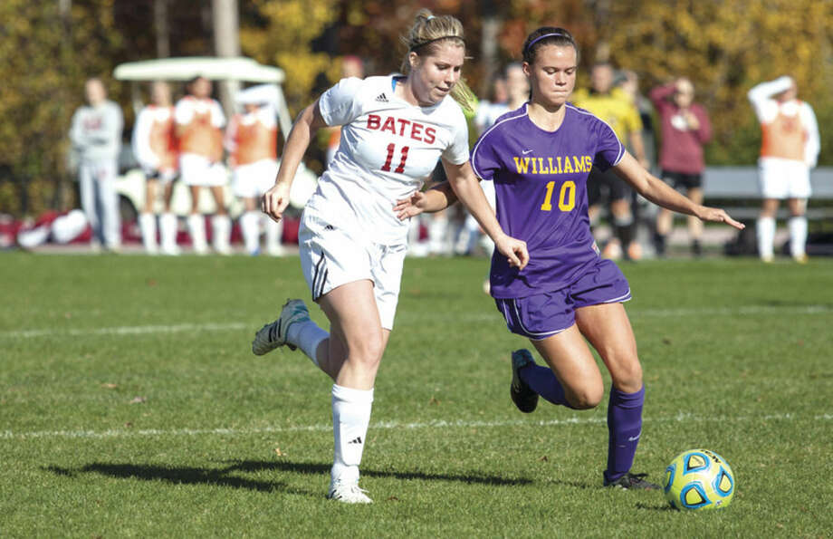 Women's Soccer plays against Williams, 3-0, during Homecoming Weekend.