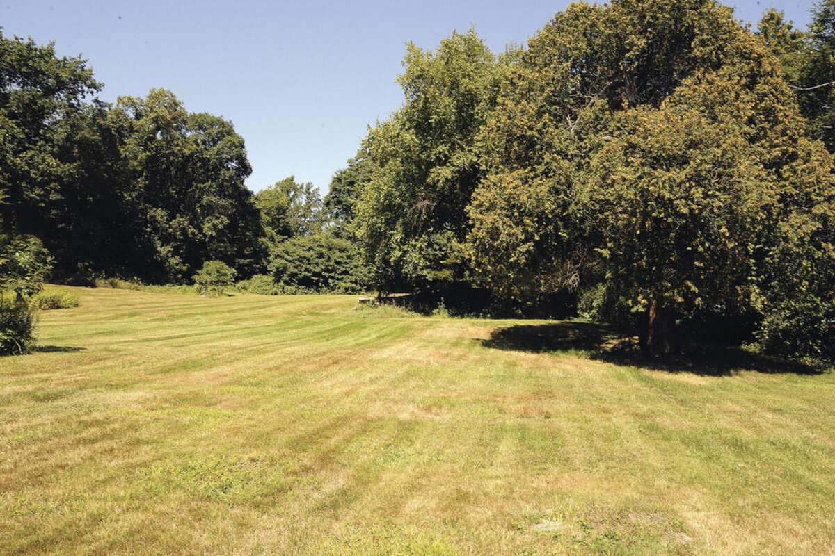 The grounds behind the house on 127 Fillow Street in Norwalk where the mosque/community hall would be built. Hour photo/Matthew Vinci