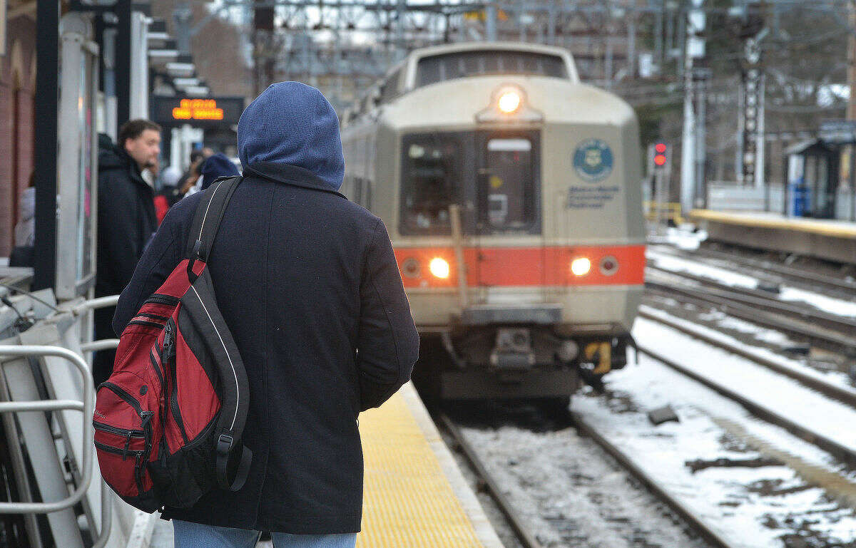 Hour file photo/Alex von Kleydorff In this January 27, 2014 file photo, riders wait for Metro-North trains at South Norwalk Train Station.
