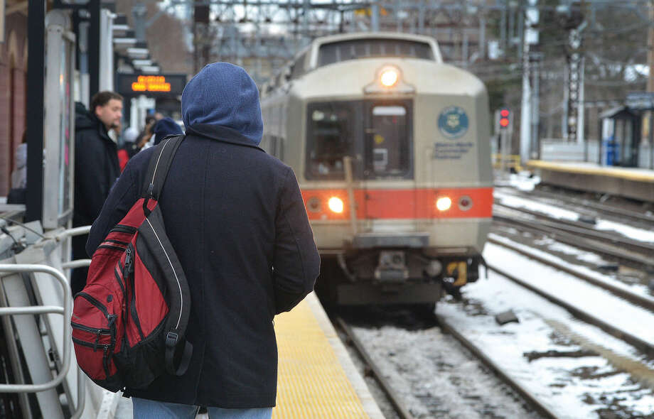 Hour file photo/Alex von KleydorffIn this January 27, 2014 file photo, riders wait for Metro-North trains at South Norwalk Train Station.