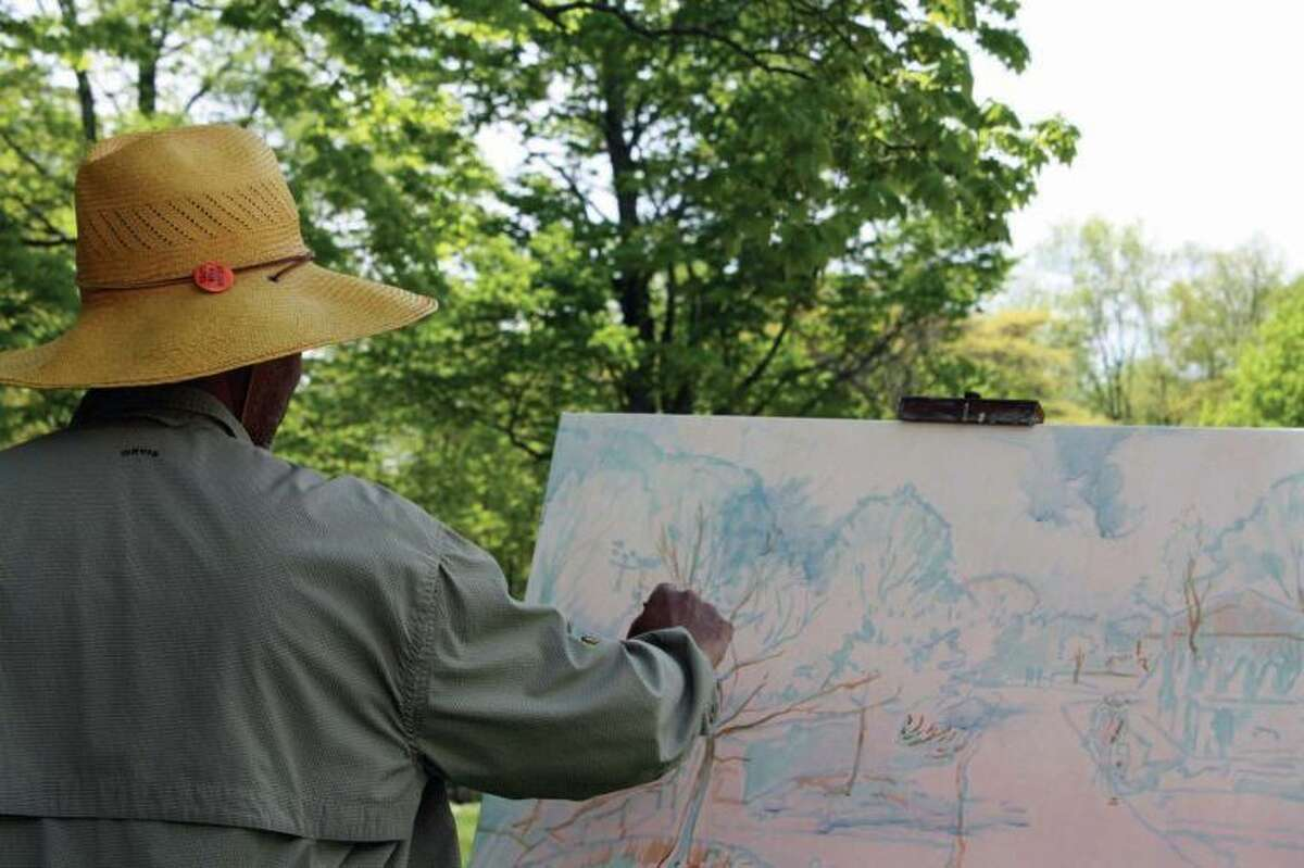 Impressionist artist and educator Dmitri Wright paints En Plein Air at Weir Farm National Historic Site.