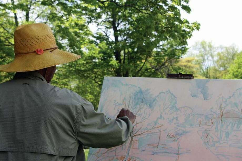 Impressionist artist and educator Dmitri Wright paints En Plein Air at Weir Farm National Historic Site.
