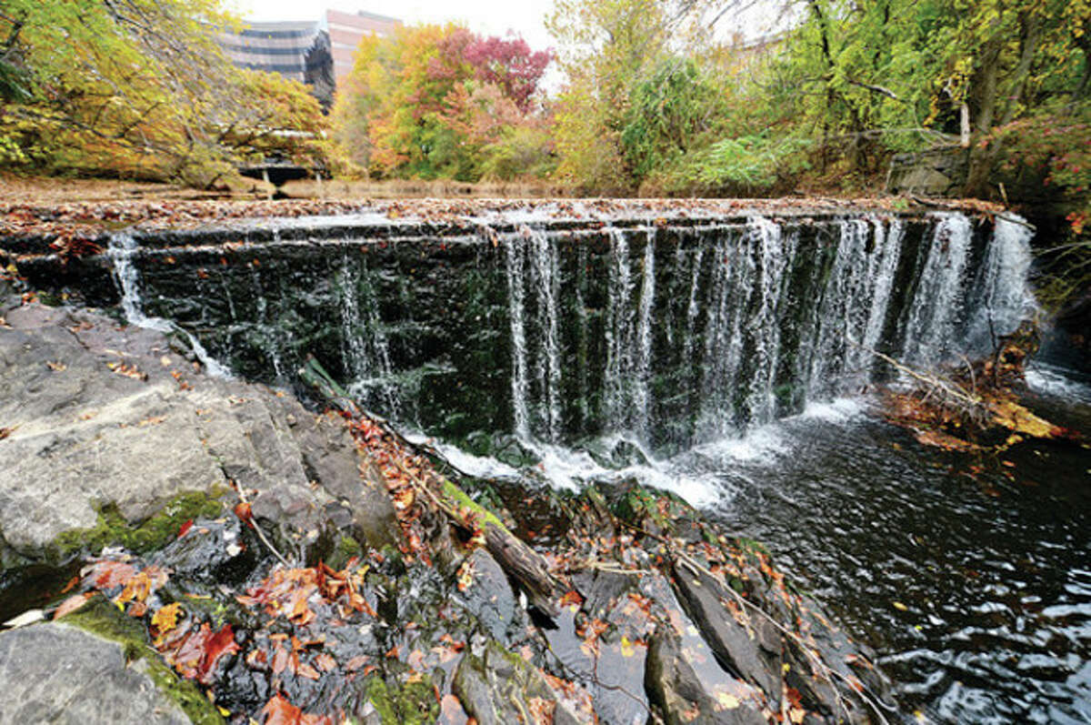 Hour photo / Erik Trautmann U.S. Fish and Wildlife Service has awarded Norwalk a $970,000 grant to remove the Flock Process Dam from the Norwalk River.