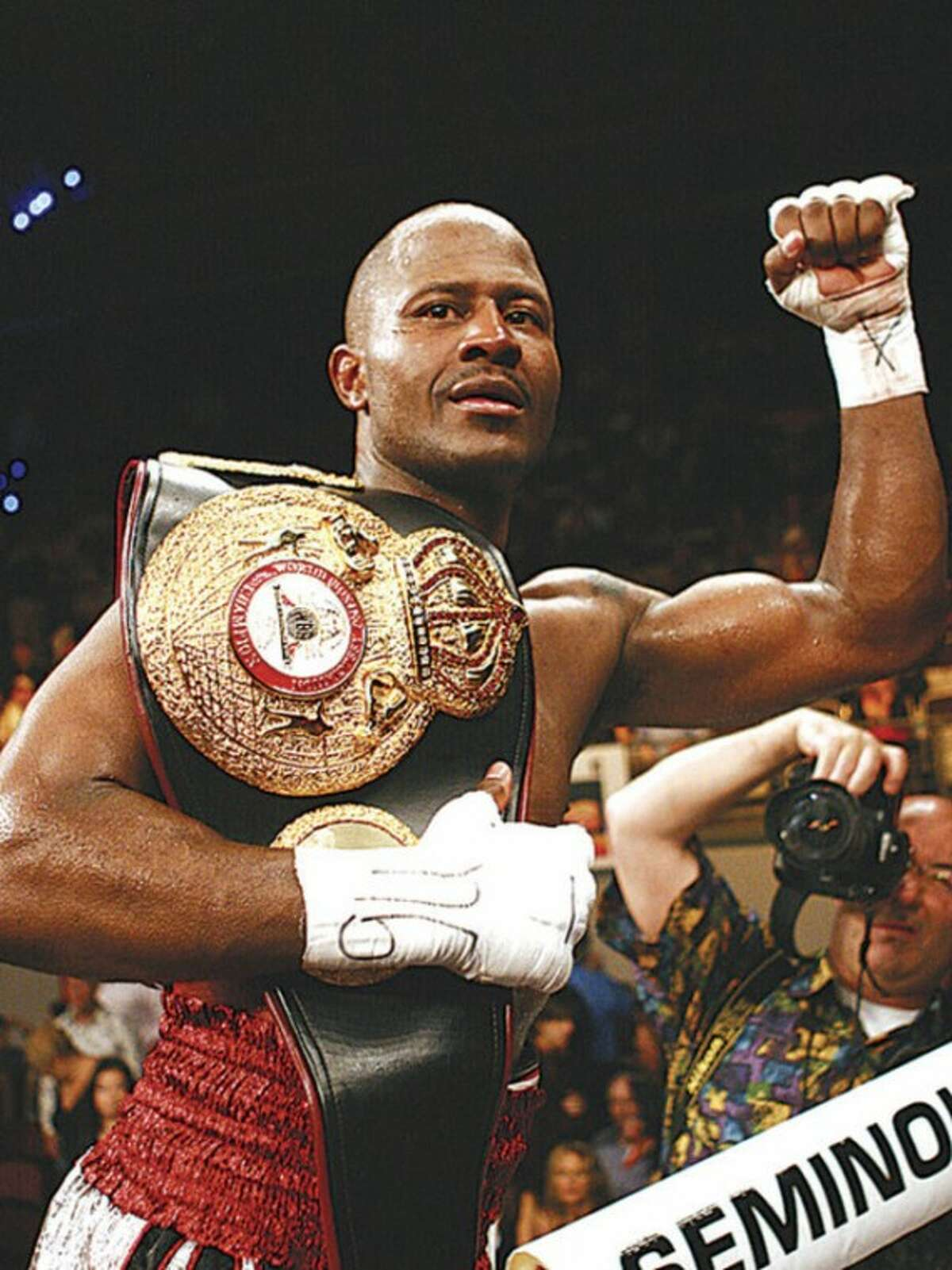 Hour file photo Travis Simms of Norwalk was victorious in winning one World Championship in his career, which has led him to the Connecticut Boxing Hall of Fame.
