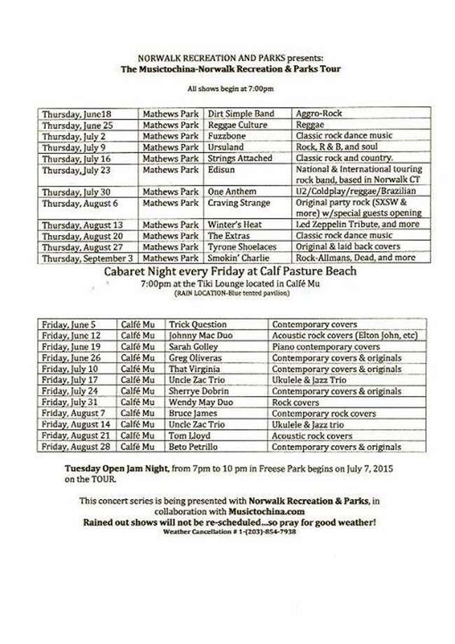 Free Concert Series Schedule