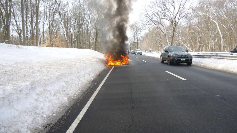 NFD quickly extinguishes car fire on The Merritt Tuesday