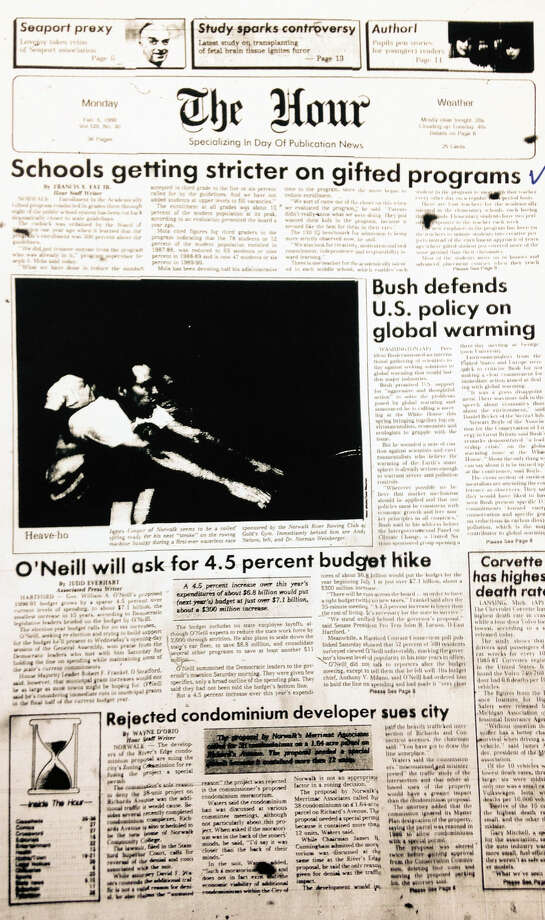 February 6, 1990 - The Hour's frontpage