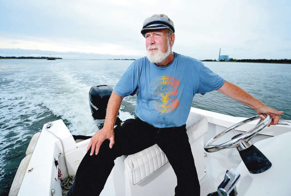 Hour photo / Erik Trautmann Soundkeeper Terry Backer is marking 25 years of protecting Long Island Sound.