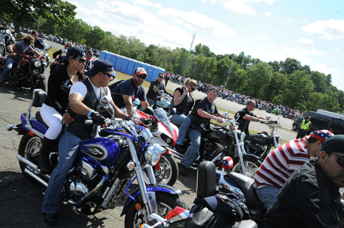 The Connecticut United Ride pulls out of Nordon Place Sunday. The Ride is the largest 9-11 tribute in the state. Hour photo/Matthew Vinci