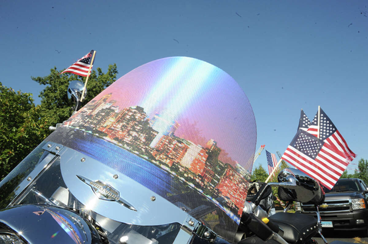 The Connecticut United Rideat Nordon Place Sunday. The Ride is the largest 9-11 tribute in the state. Hour photo/Matthew Vinci