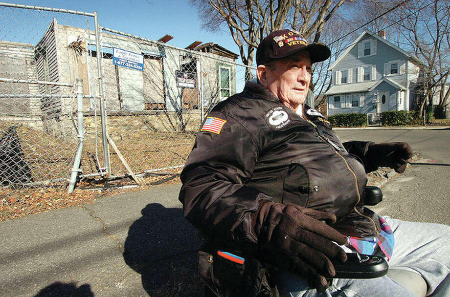 Hour photo / Alex von Kleydorff Jim Pearson sees 9 Leonard St. as a blight in his neighborhood. / © 2012 The Hour Newspapers