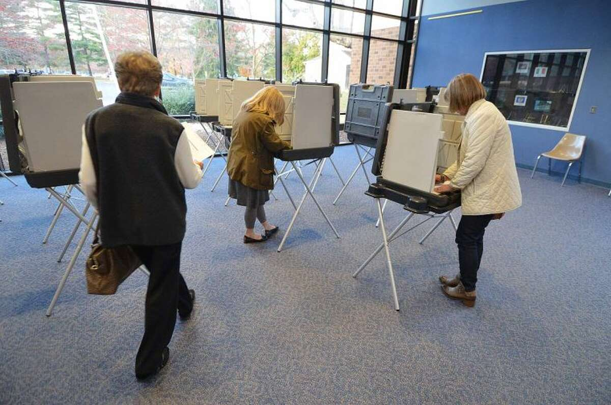 Voting on Election Day in Wilton's District 1.