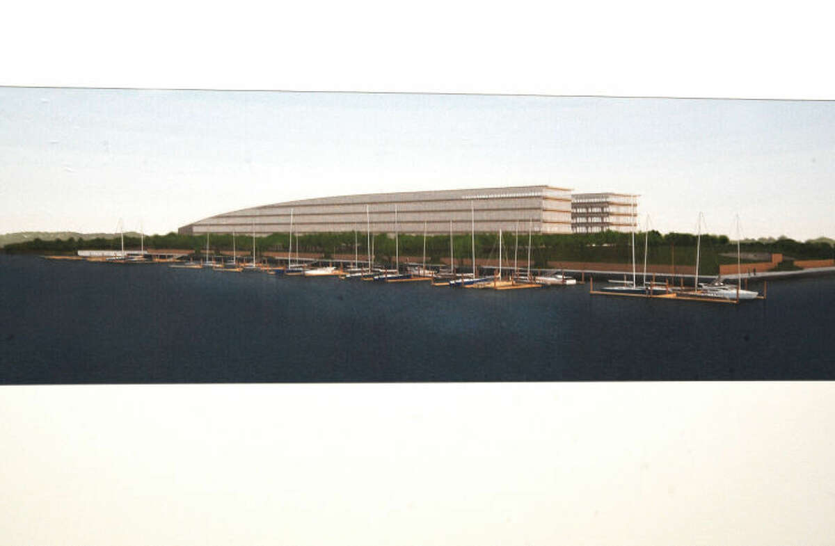 Plans for the headquarters of Bridgewater Associates at Harbor Point in Stamford.