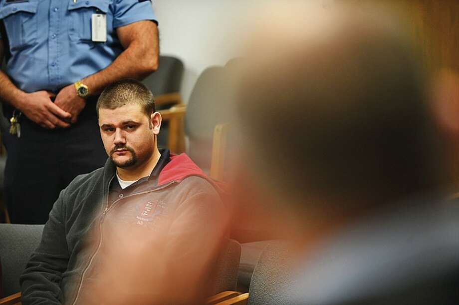 William Loeffel is arraigned at Norwalk Superior Court Friday. Hour photo / Erik Trautmann