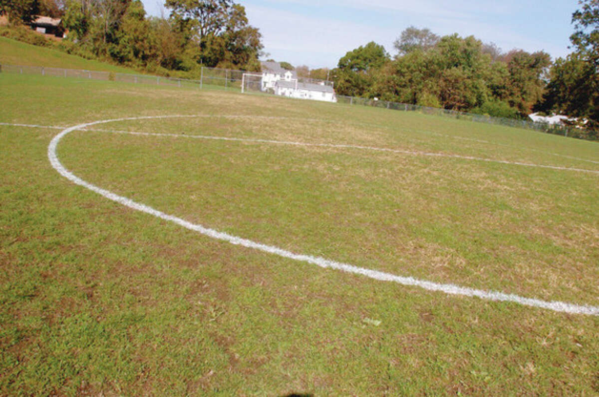 Hour photo / Matthew Vinci The soccer field behind Nathan Hale Middle School is among the athletic fields up for improvements.