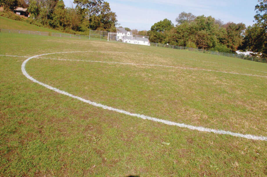 Hour photo / Matthew Vinci The soccer field behind Nathan Hale Middle School is among the athletic fields up for improvements. / (C)2011, The Hour Newspapers, all rights reserved