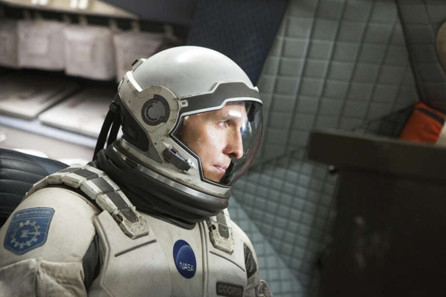 "This photo released by Paramount Pictures shows, Matthew McConaughey, in a scene from the film, '""Interstellar."" (AP Photo/Paramount Pictures, Melinda Sue Gordon)"