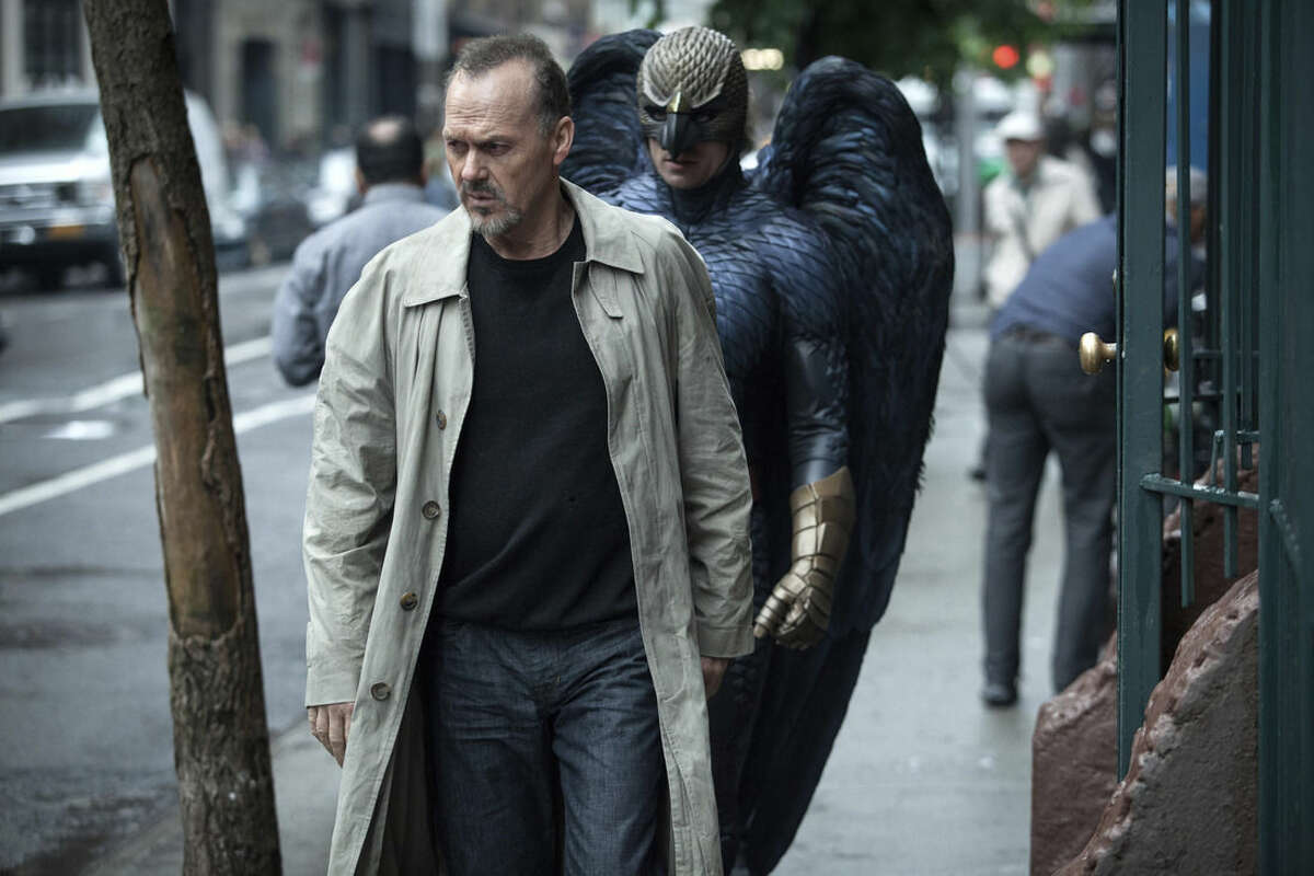 """In this image released by Fox Searchlight Pictures, Michael Keaton portrays Riggan in a scene from """"Birdman."""" The film has nine Oscar nominations, including best picture and best actor. The 87th Annual Academy Awards will take place on Sunday, Feb. 22, 2015 at the Dolby Theatre in Los Angeles. (AP Photo/Fox Searchlight, Atsushi Nishijima)"""