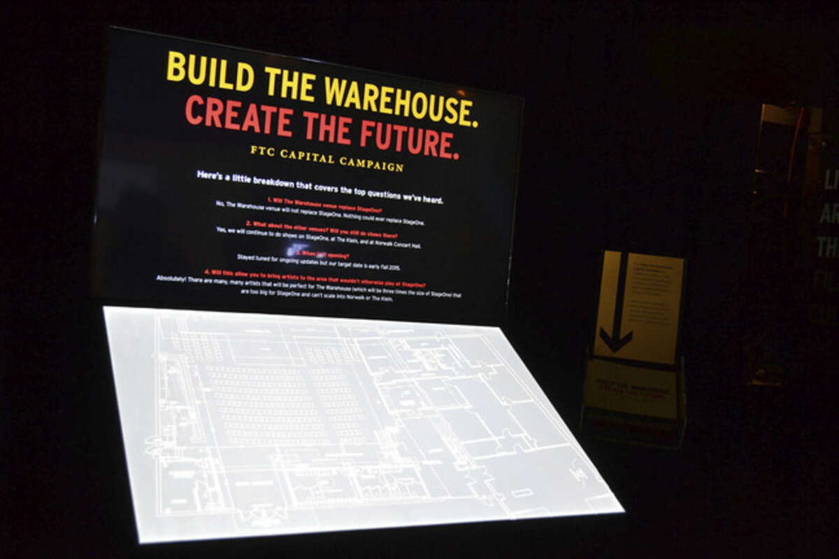 Photo by Mike Horyczun Blueprints for the future Fairfield Theatre Company addition.