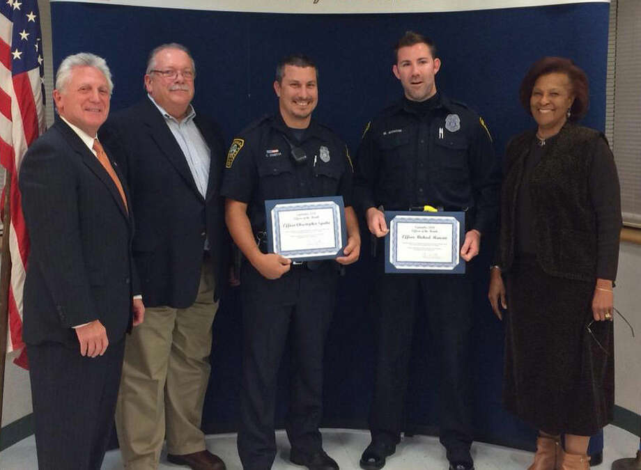 Sgritta and Officer M. Mancini were named September Norwalk Officers of the Month