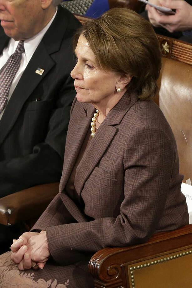 House Minority Leader Nancy Pelosi of Calif. listens to Israeli Prime Minister Benjamin Netanyahu speak before a joint meeting of Congress on Capitol Hill in Washington, Tuesday, March 3, 2015. Prime Minister Netanyahu is using the address to warn against trusting Iran to curb its nuclear ambitions. (AP Photo/J. Scott Applewhite)
