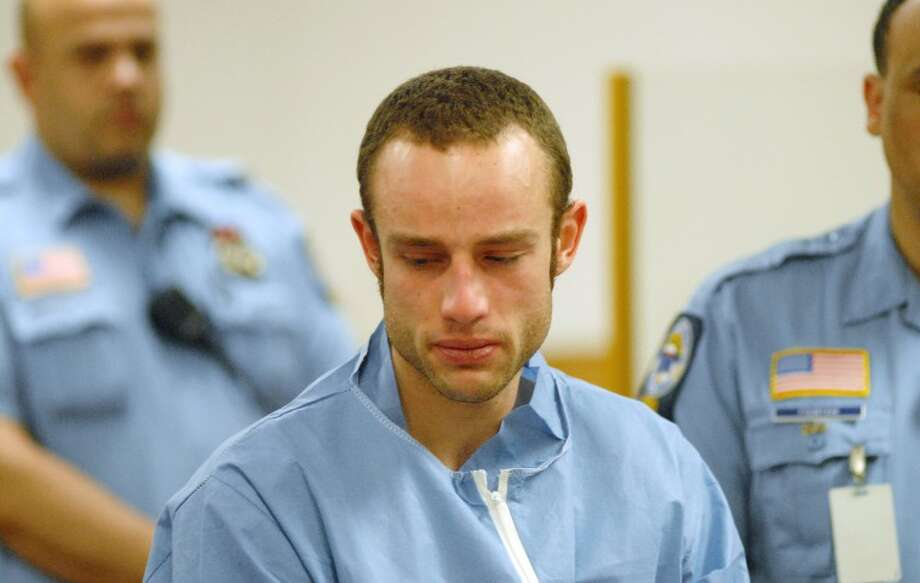 Aaron Ramsey, 22, of Wilton, is arraigned in Norwalk Superior Court in Norwalk, Conn. on Friday May 4, 2012 for the alleged murder of his father.