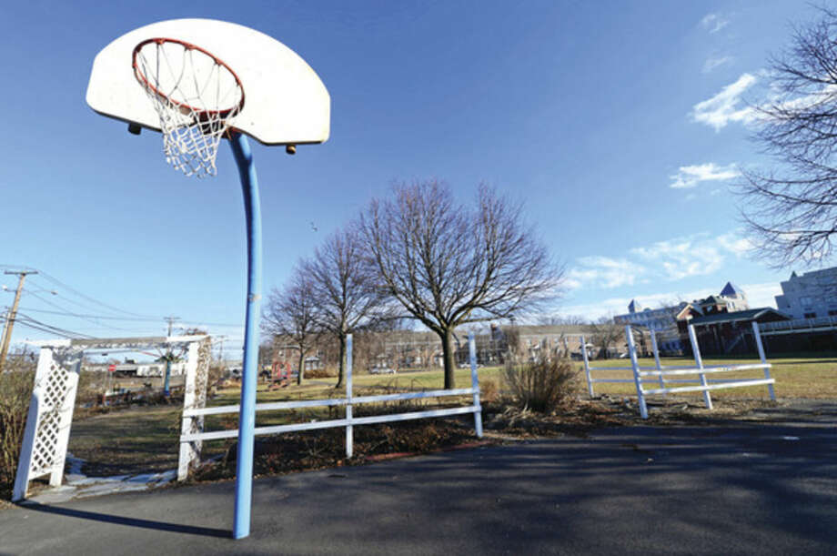 Hour photo / Erik Trautmann Ryan Park in Norwalk. The park may be moved in the master plan to redevelop Washington Village.