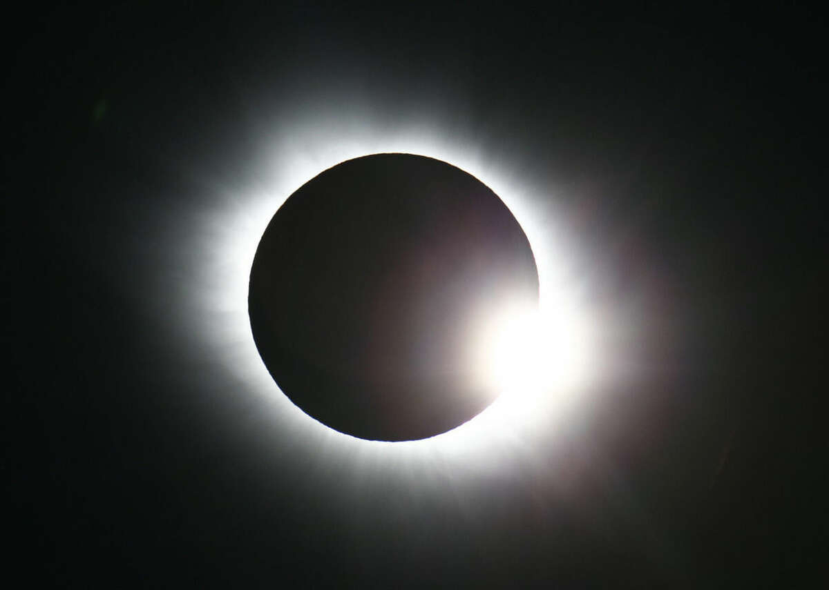 The total solar eclipse seen from Svalbard, Norway Friday March 20, 2015. An eclipse is darkening parts of Europe on Friday in a rare solar event that won't be repeated for more than a decade. (AP Photo/Haakon Mosvold Larsen, NTB Scanpix) NORWAY OUT
