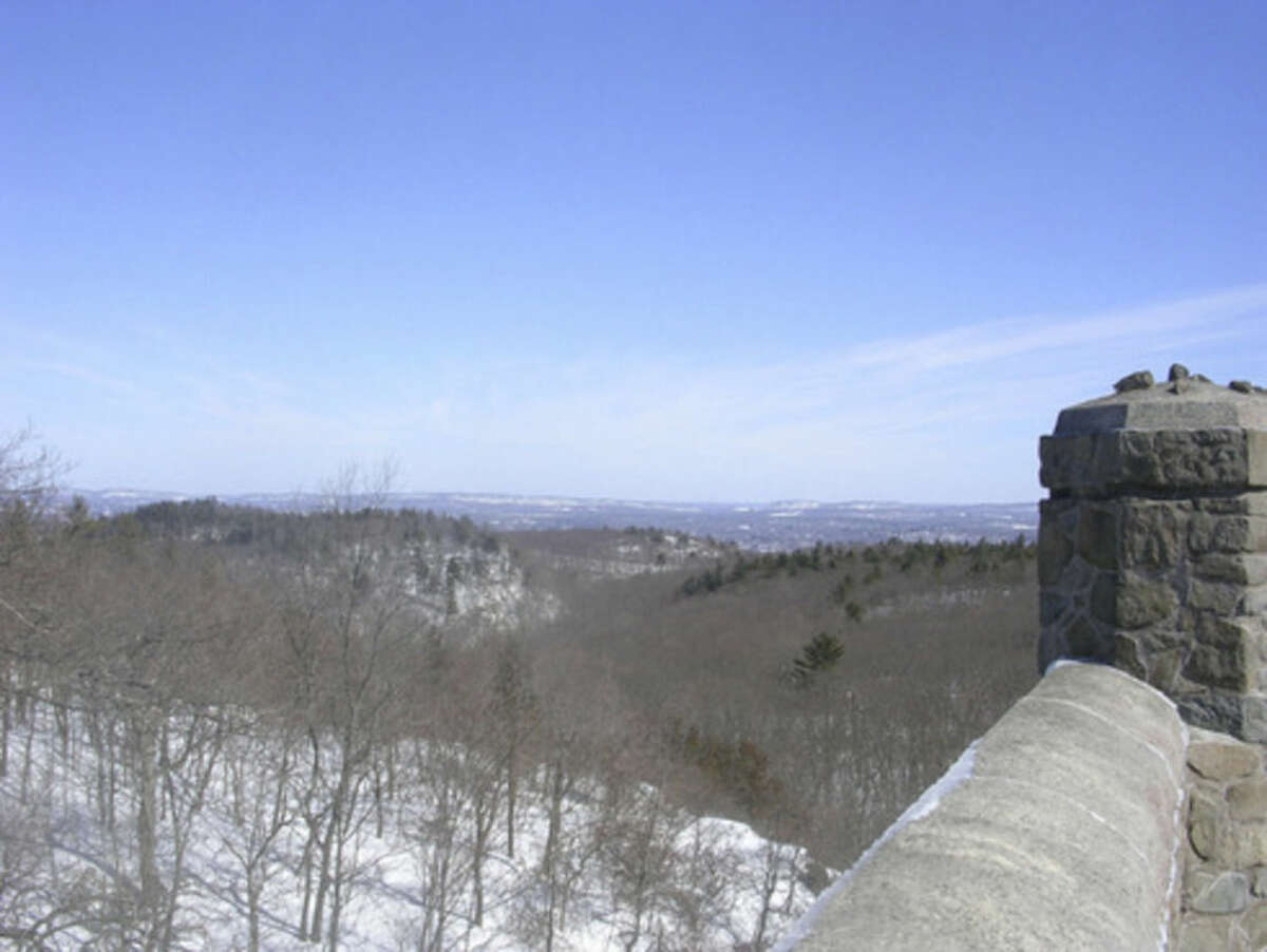 Photo by Rob McWilliams Looking southeast from the stone tower at Sleeping Giant.