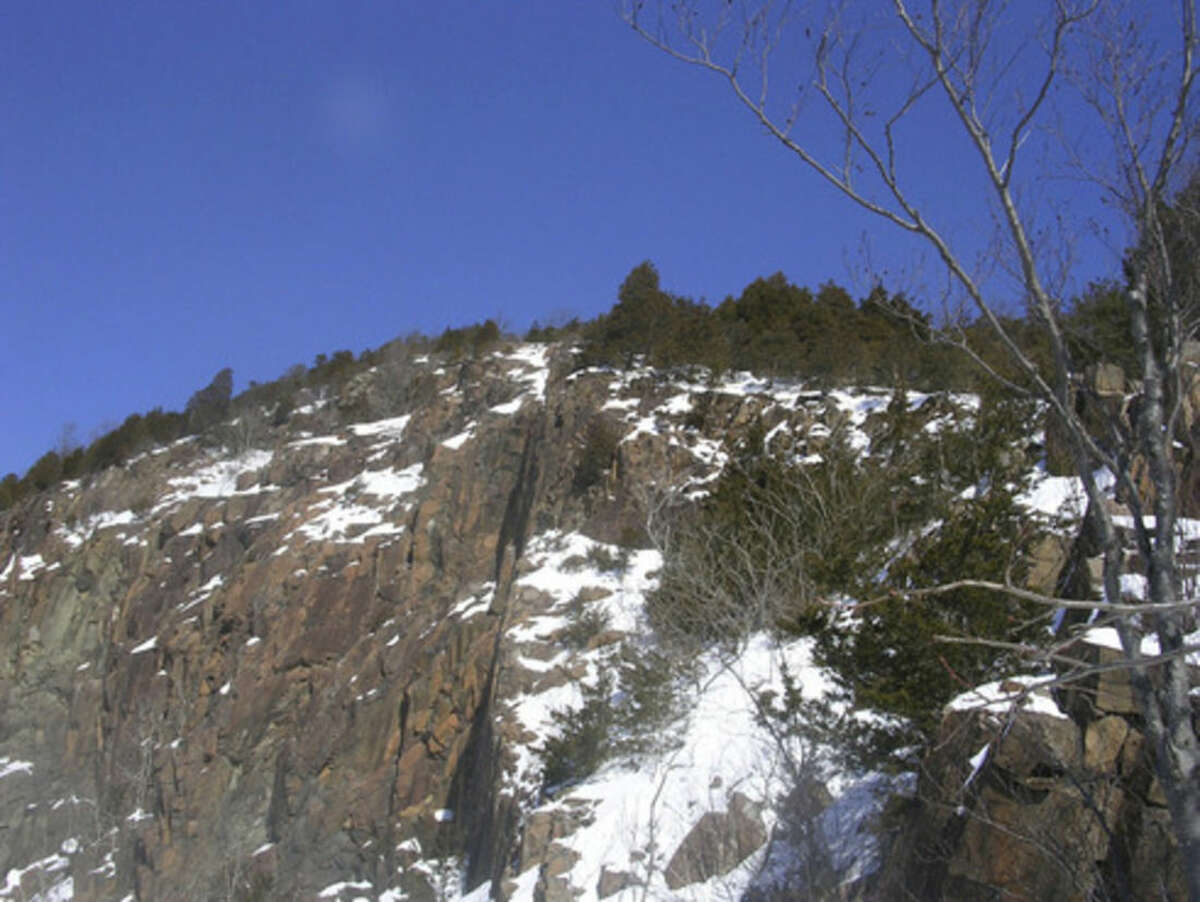 Photo by Rob McWilliams The quarry cliff in the Giant's head.