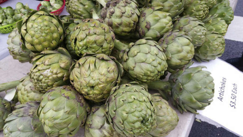 Photo by Frank WhitmanLocal artichokes.