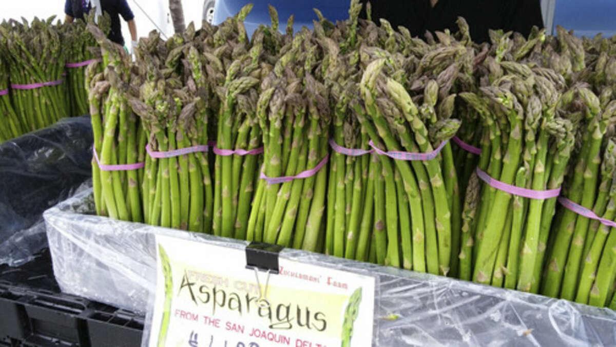 Photo by Frank Whitman Fresh asparagus.