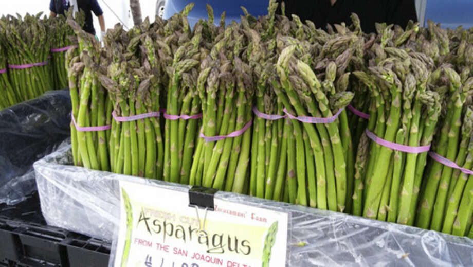Photo by Frank WhitmanFresh asparagus.