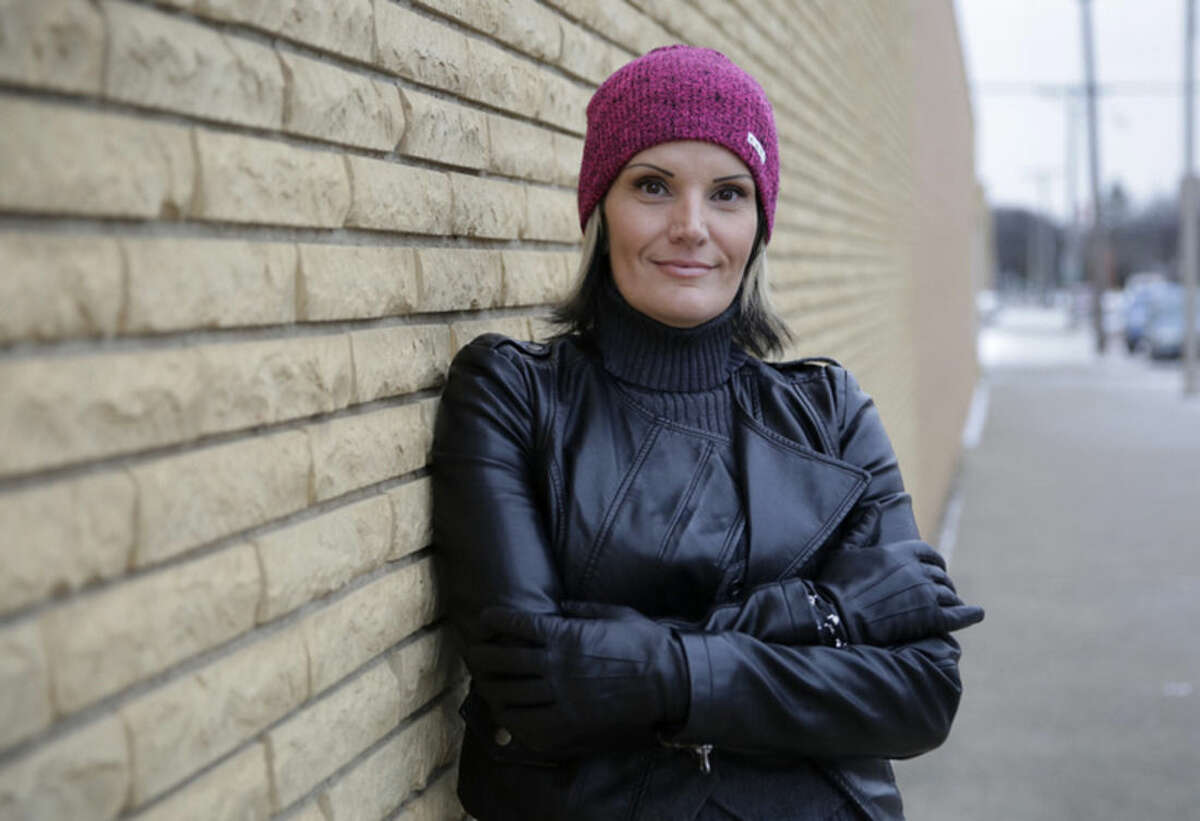 AP file photo/Eric Gay In this Dec. 16, 2014, photo, Windie Lazenko, with the anti-trafficking group 4her North Dakota, stands for a photo in Williston, N.D. Though her past gives her credibility with trafficked women, Lazenko says getting them to walk away is difficult.