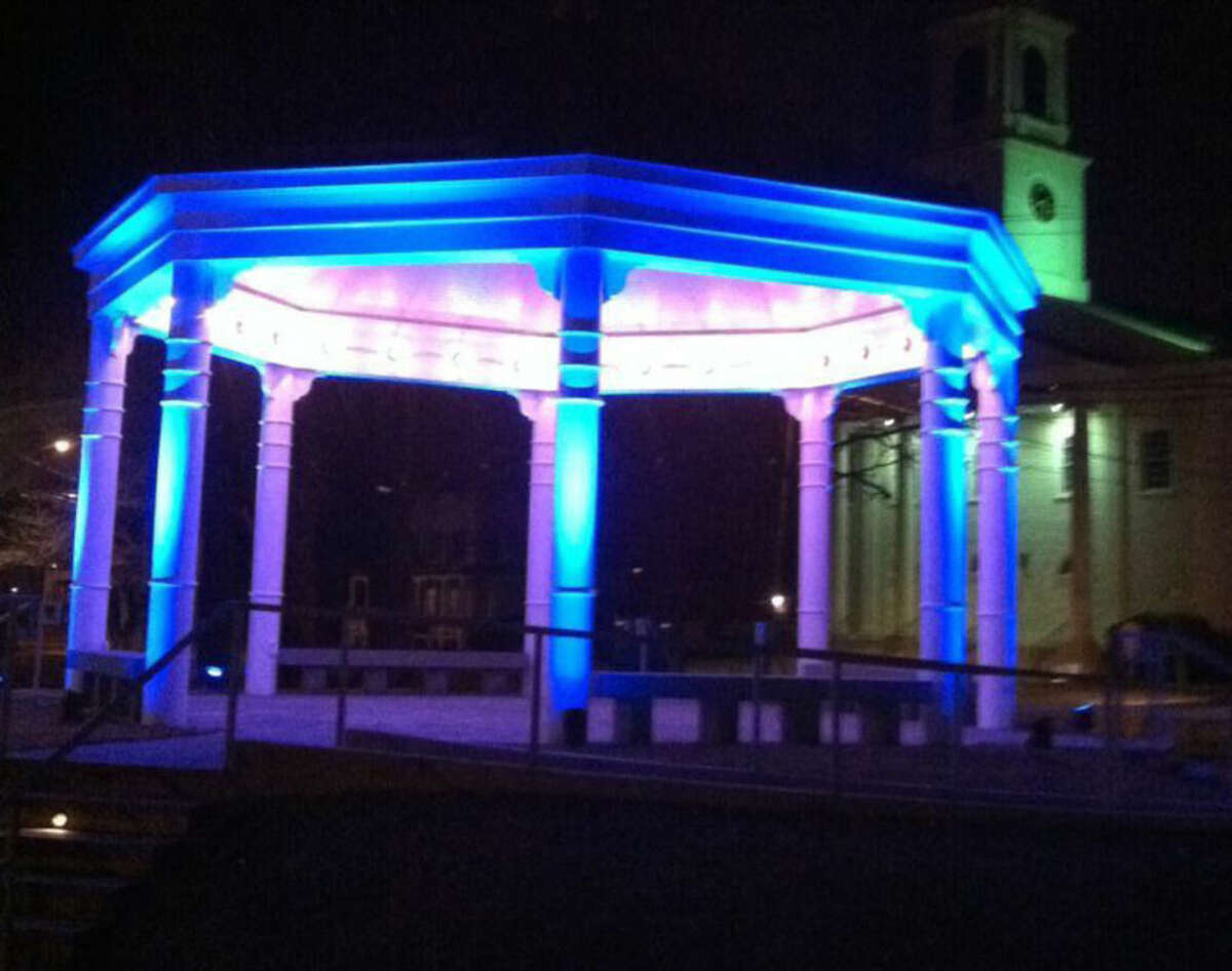 Contributed photo The Norwalk Green gazebo will glow blue on April 2 for World Autism Awareness Day.