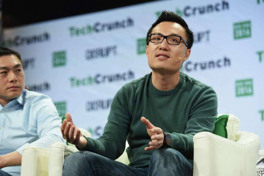 Co-founder and CEO of DoorDash Tony Xu speaks onstage during TechCrunch Disrupt NY 2016 at Brooklyn Cruise Terminal on May 11, 2016 in New York City. DoorDash announced Monday it would begin delivery in San Antonio. Photo: Noam Galai /Getty Images For TechCrunch / 2016 Getty Images