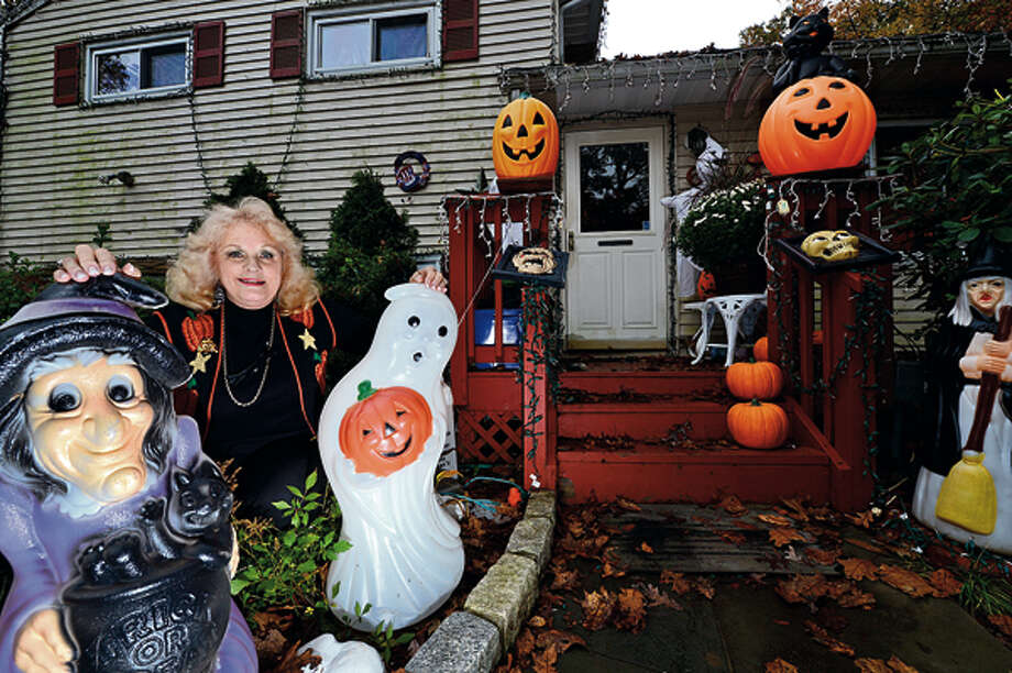 Local residents including Joan Setti decorate their homes for Halloween. Hour photo / Erik Trautmann / (C)2012, The Hour Newspapers, all rights reserved