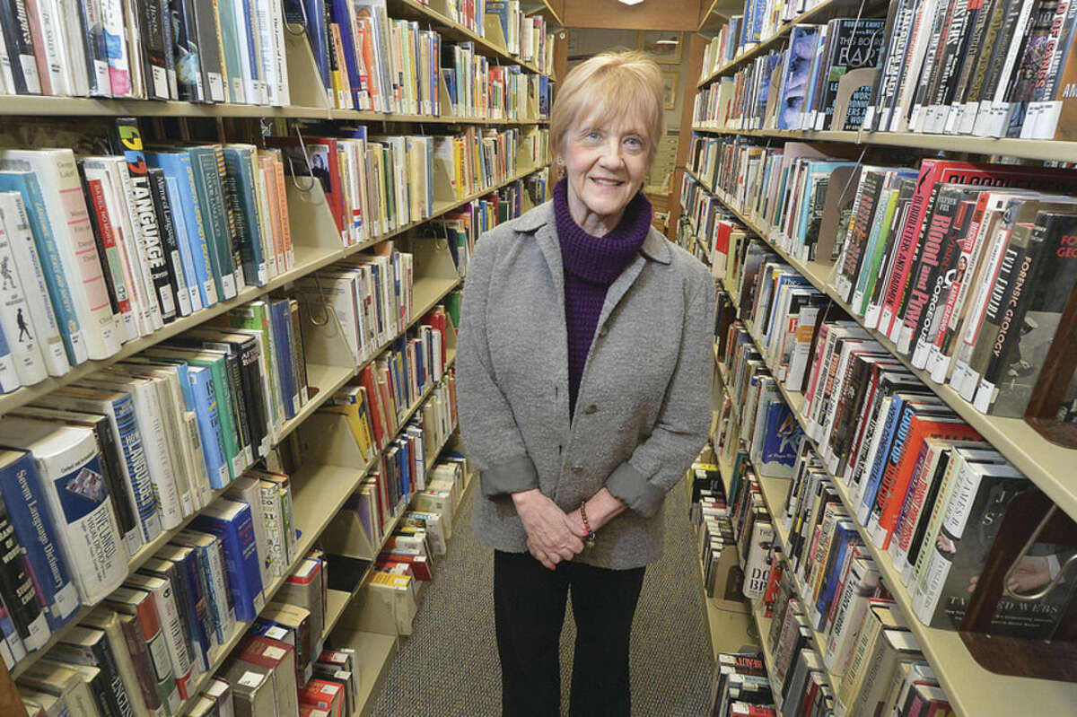 Hour Photo/Alex von Kleydorff Leslie Kerr, at the Norwalk Public Library, is a former Rockette now teaching classes at the Norwalk Library.