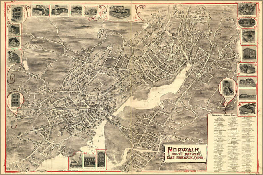 Map Of Norwalk, South & East Connecticut 1899