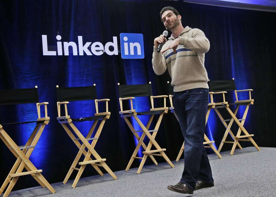 "FILE - In this Nov. 6, 2014, file photo, LinkedIn CEO Jeff Weiner speaks during the company's second annual ""Bring In Your Parents Day,"" at LinkedIn headquarters in Mountain View, Calif. LinkedIn reports quarterly financial results on Thursday, July 30, 2015. (AP Photo/Marcio Jose Sanchez, File) Photo: Marcio Jose Sanchez, Associated Press"