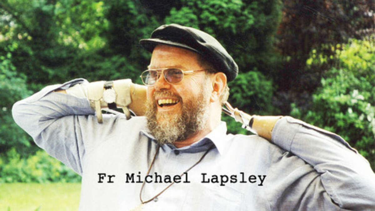Contributed photo This 2002 photo shows Father Michael Lapsley, an Anglican priest exiled to Zimbabwe from South Africa, who will speak in Westport.