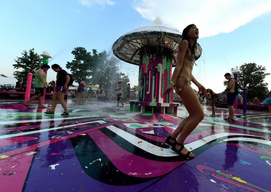 Best: A splash pad for adults.  Photo: Getty Images