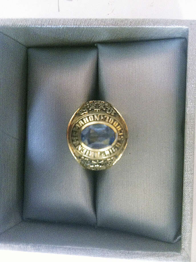 Contributed photoA 1963 Brien McMahon class ring has found its way to its owner after 40 years.