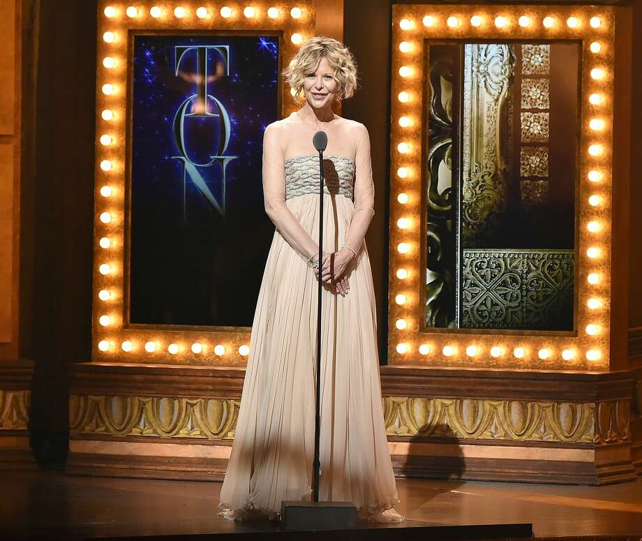 Actress Meg Ryan speaks onstage during the 70th Annual Tony Awards at The Beacon Theatre on June 12, 2016 in New York City. Photo: Theo Wargo/Getty Images For Tony Awards Productions