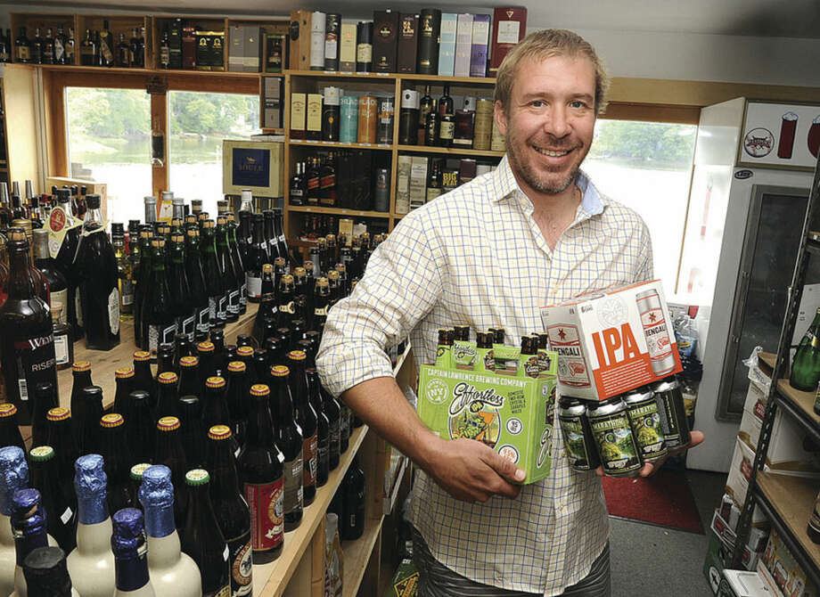 Sjur Soleng owner of Ninety 9 Bottles at his Westport location is holding the 2nd annual Ninety 9 Bottles craft beer festival at Oyster Shell Park in Norwalk next Saturday. Hour photo/Matthew Vinci