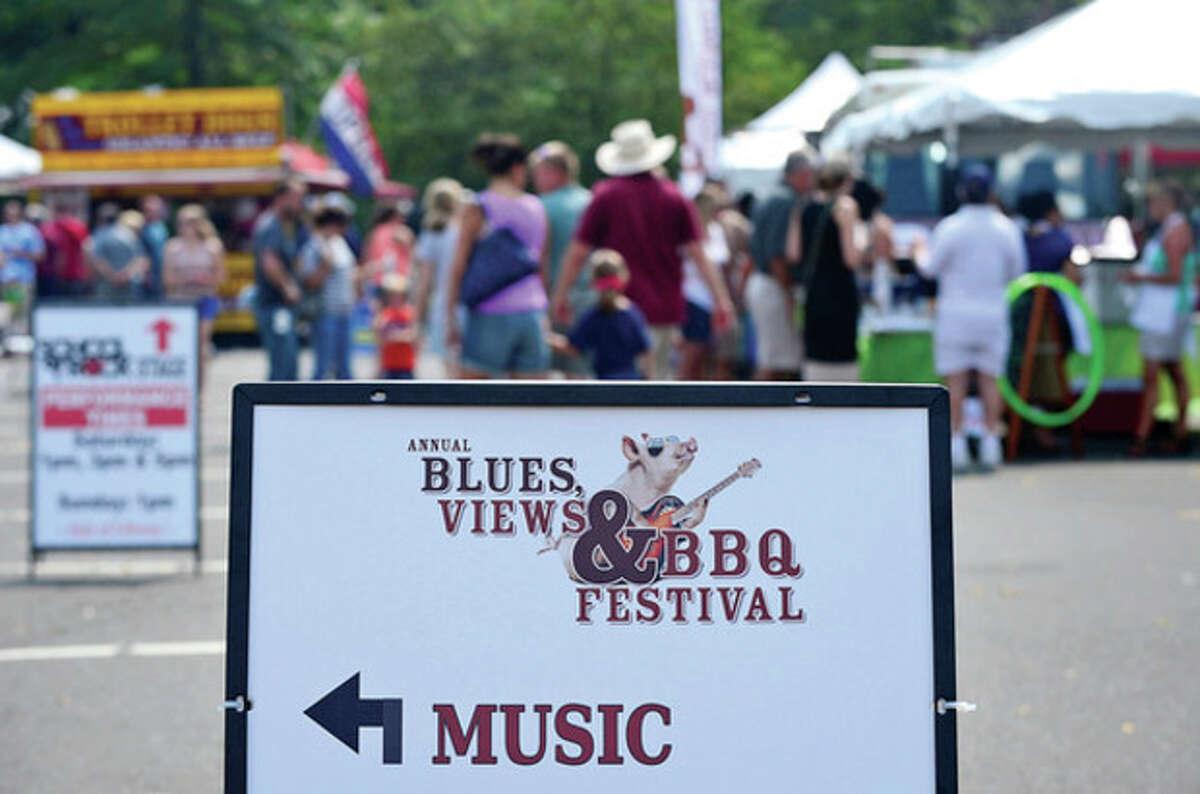 The Westport's 5th annual Blues Views and BBQ at Jesup Green Saturday. Hour photo / Erik Trautmann